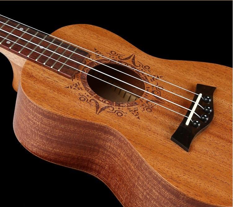 18 Frets 23 Hawaii Guitar Concert Acoustic Guitar Concert Ukulele 4 strings Rosewood Fingerboard Mahogany Top Back Side niko black 21 23 26 ukulele bag silver edge nylon soprano concert tenor soft case gig bag 5mm thick sponge