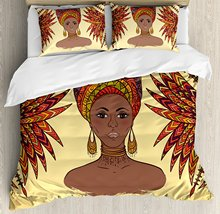 Bedding Set with Traditional African Girl Print