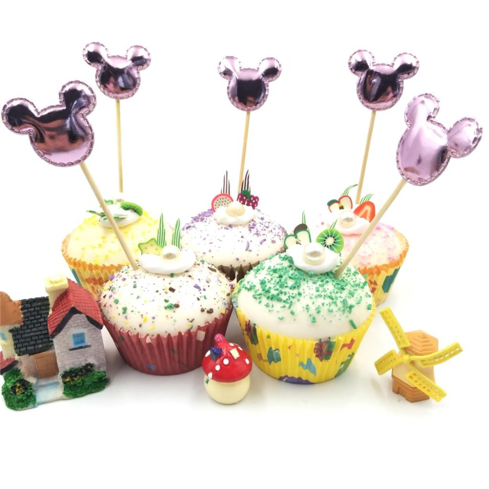 Astonishing 5Pcs Lot Mickey Minnie Mouse Cupcake Toppers Baby Shower Birthday Funny Birthday Cards Online Necthendildamsfinfo