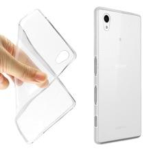 Case for Sony Xperia XZ1 Silicon TPU Transparent Cover Compact XA2 ultra Coque Funda Etui Accessory