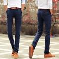 3 Colores Nueva Llegada de Los Hombres Pantalones Slim Fit Casual Brand Pantalones Para Hombre Pantalones de Tela de algodón de Moda Rectas Primavera Pantalones Flacos de Los Hombres