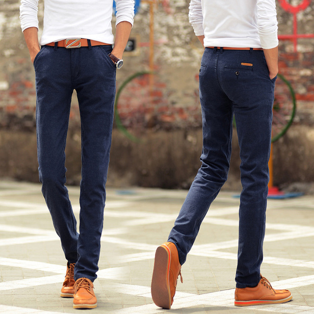 7985311fa9 3 Colors New Arrival Men Pants Slim Fit Casual Brand Pants Mens Chino Pants  Fashion Straigh