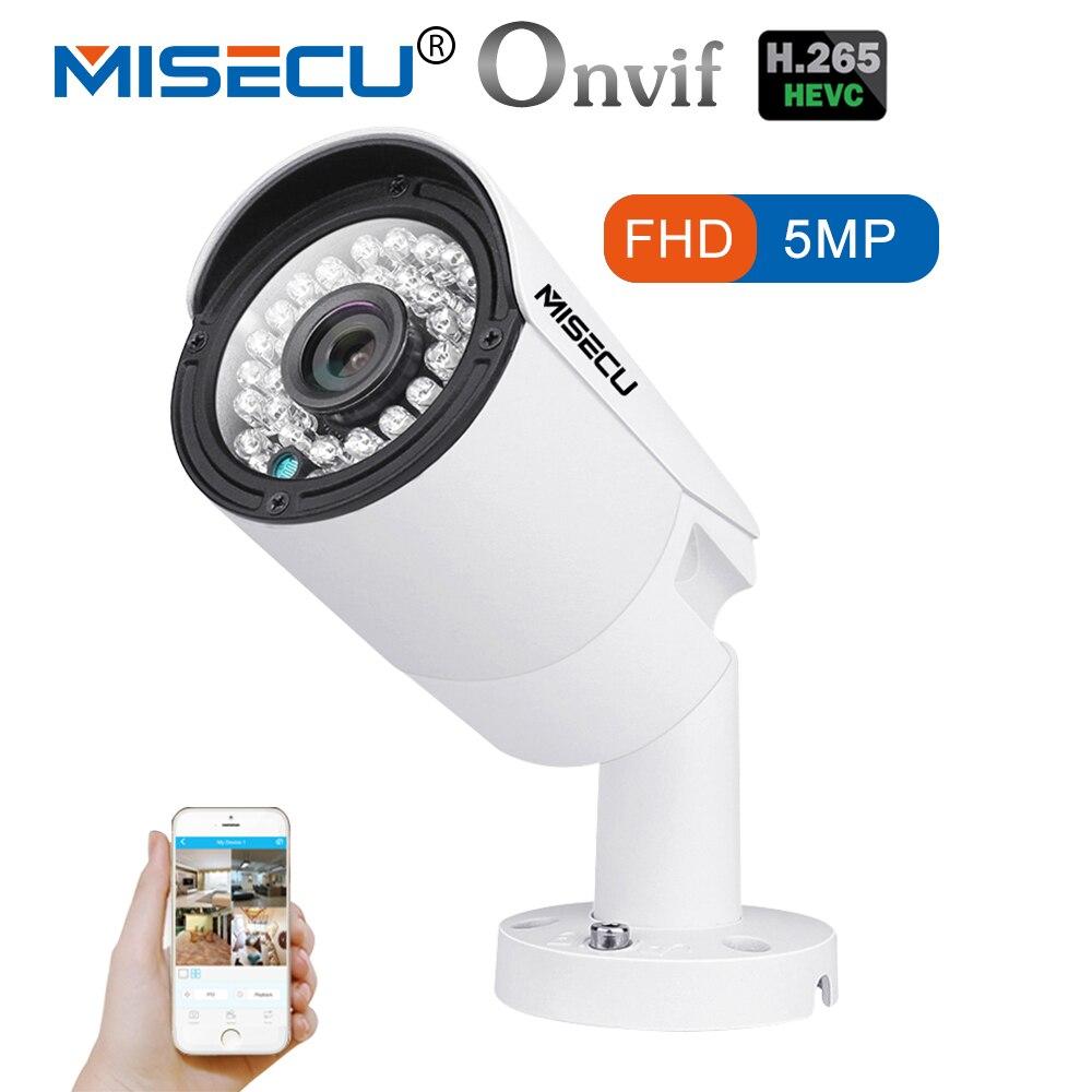 MISECU H.265 IP POE Sicherheit Kamera Im Freien Wasserdichte Video Überwachung Kamera Motion Dectection Onvif FTP Kamera 5MP 4MP 3MP