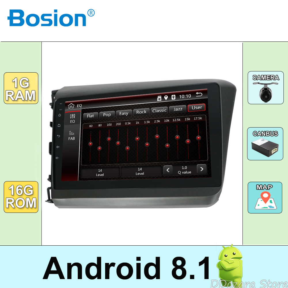 Android 8.1 Car Multimedia Player For Honda Civic 2012-2013 Navigation RadioAndroid 8.1 Car Multimedia Player For Honda Civic 2012-2013 Navigation Radio