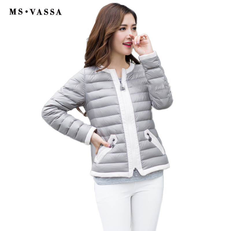 14960f8c9 Aliexpress.com : Buy New jacket Women Spring down jacket white duck light  down jacket contrast piping jacket plus over size S 7XL outerwear from ...