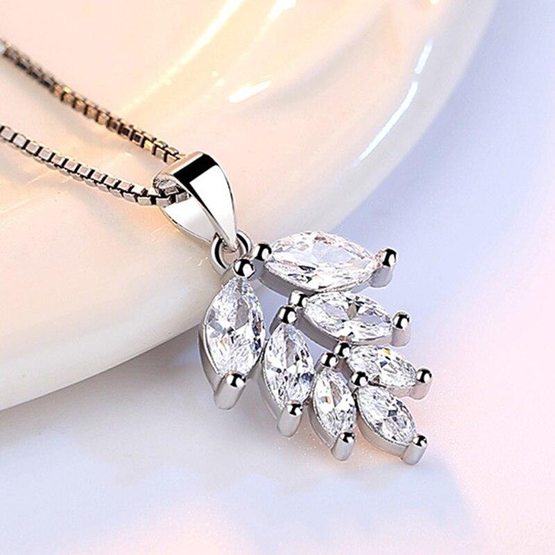 silver zircon pendants necklaces (4)