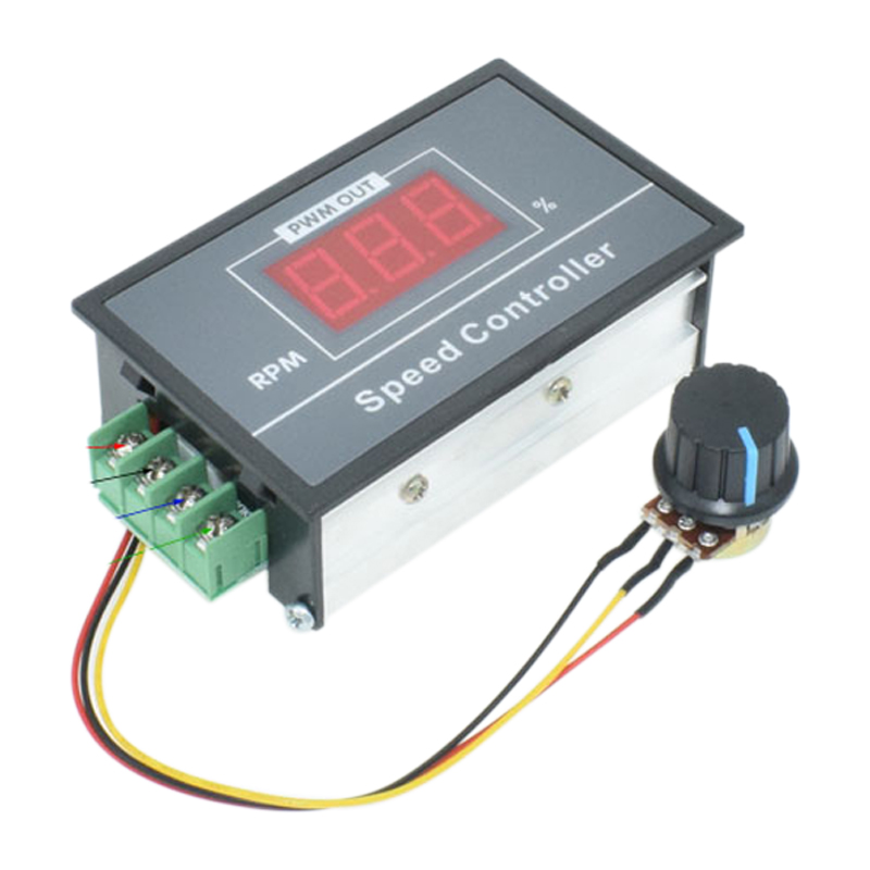 0-100 Digital Display Stepless Speed Regulation 6v-60v Pwm Dc Motor Speed Controller Switch Controller With Display Case 6.5 Sale Price