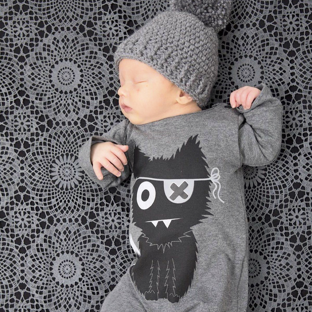 Wolf Baby Clothes Baby Rompers Long Sleeve Cartoon Newborn Baby Girl Boys Jumpsuit Winter Clothing for 6 to 24month newborn baby rompers baby clothing set fashion cartoon infant jumpsuit long sleeve girl boys rompers costumes baby rompe fz044 2