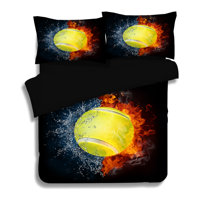 2018 3d Sports Balls Print Bedlinens Microfiber Polyester Bedding Set Twin Us Full Queen King Size Duvet Cover Pillowcases To Be Distributed All Over The World Rock & Pop