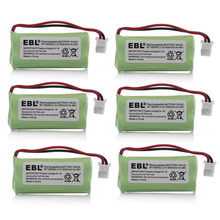 6pcs/lot EBL 600mAh Battery For VTech Cordless Home Phone Batteries 2.4v BT166342 BT266342 BT183342 BT283342 Free Shipping(China)
