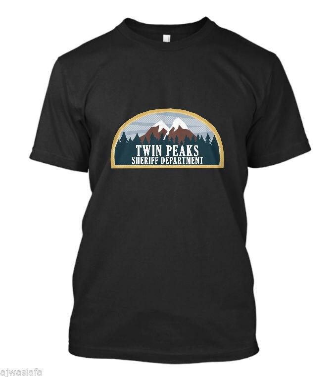 New Twin Peaks Sheriff Department Mens T-Shirt MenS T-Shirts Summer Style Fashion Swag Men T Shirts Punk Tops