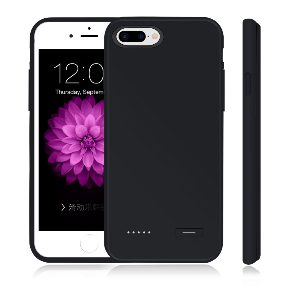 Цена за New 3700 charger Case Slim Ultra Thin Smart Battery charge Case For iPhone 7 / 7 Plus Black Power Case cover