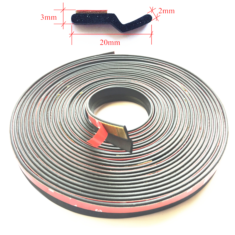 Z Type Adhesive Car Rubber Seal Sound Insulation Car Door