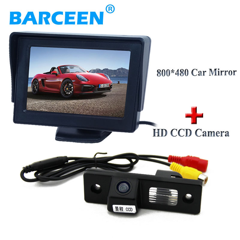 Écran couleur de voiture rétroviseur moniteur + 170 large vue degrés réserve de voiture caméra pour CHEVROLET EPICA/LOVA/AVEO/CAPTIVA/CRUZE/LACETTI