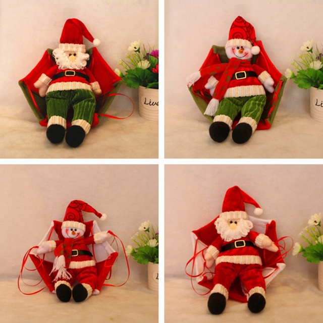 Festival Home Ceiling Decorations Parachute Santa Claus Snowman New Year Hanging Pendant Christmas Gift