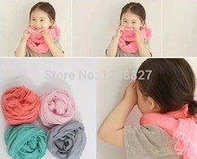 Girl&boy lovely pure color scarves Kids Cotton soft 16 candy color scarf tippet Autumn Winter Parent-child warm capelet clothing