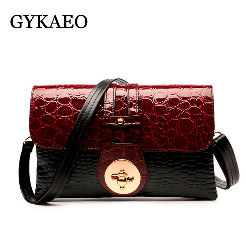 2018 New Crocodile Pattern Women Messenger Bags Handbags Women Famous Brands Clutch Bag Bolsa Sac A Main Femme De Marque Celebre