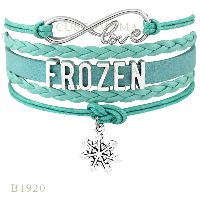 10 Pcs Lot Infinity Love Frozen Comp Charm Bracelets For Women Men Bracelet