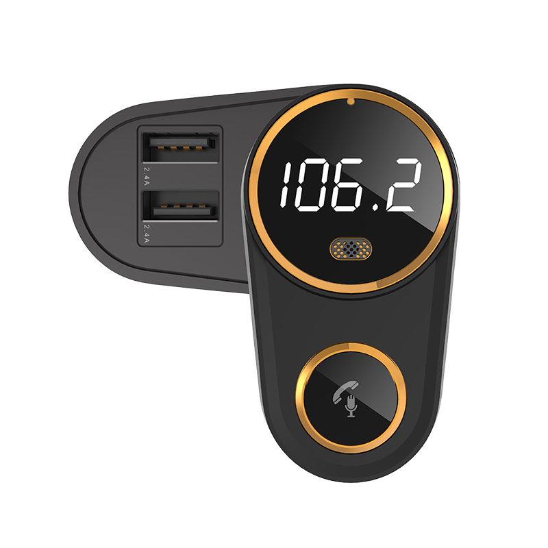 LCAV Car Bluetooth Charger FM Transmitter MP3 Player Hand Free Kit With Dual USB Charging Port New Slide Model in Car MP3 Players from Automobiles Motorcycles