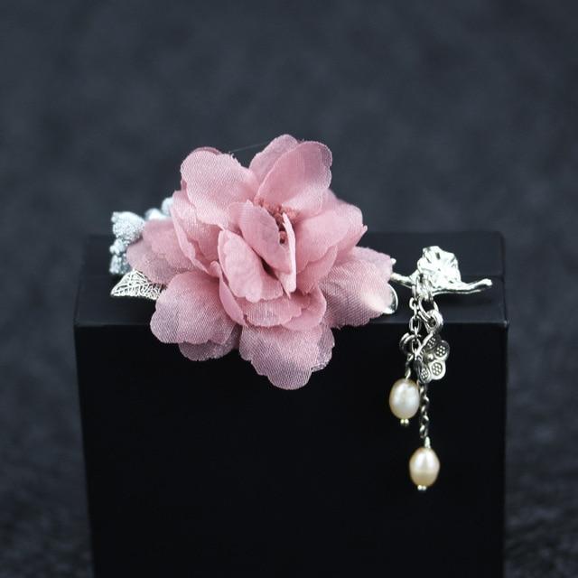 Я-remiel высококлассные брошки жемчужный цветок женский шаль-рубашка пальто Костюмы Аксессуары Брошь Pin корсаж для Для женщин Шарфы Воротник