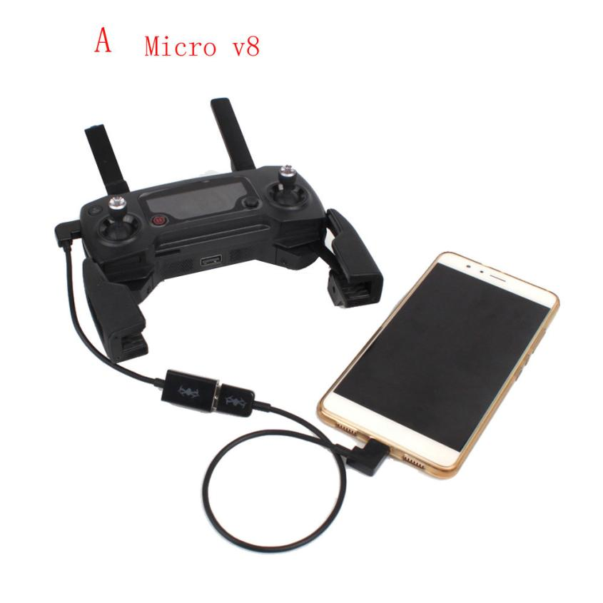 Good Sale Connect Phone Tablet For DJI Mavic Pro Transmitter Cable USB Type-C/Micro V8 May 3