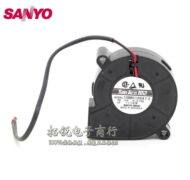 SANYO  New 109BC12GA7-2 5015 12V 0.19A 5CM turbo blower fan for  50*50*15mm велокомпьютер sigma topline bc 5 12 7 функций