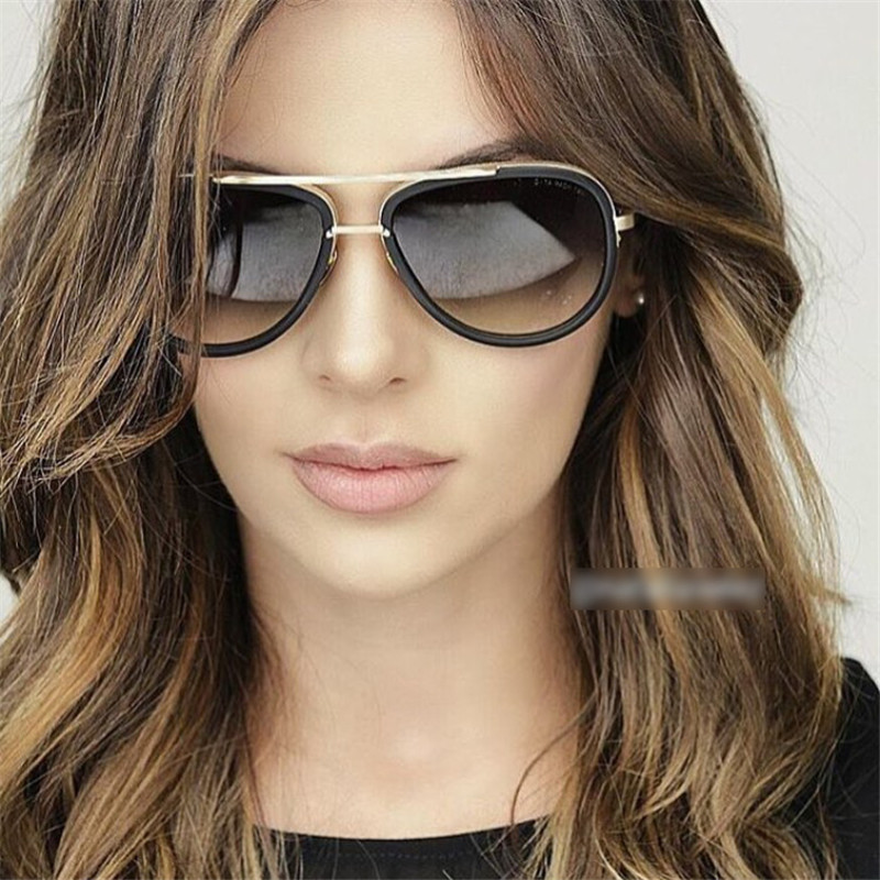 New Aviator Sunglasses Women Mirror Driving Men Luxury Brand Sunglasses  Points Sun Glasses Shades Lunette Femme Glases ZE067 31053e6a0