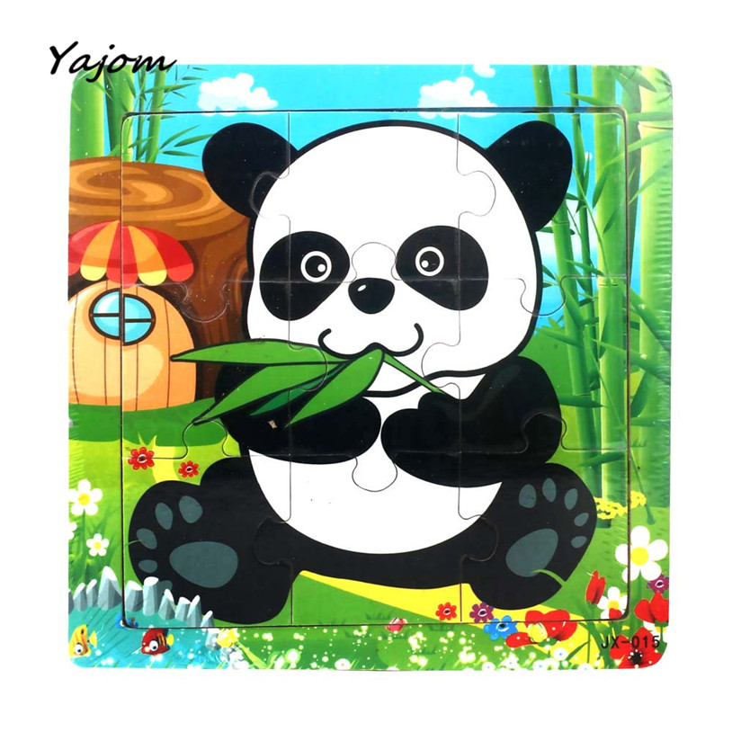 Puzzle toys Childrens Wooden Kids Jigsaw Toys For Children Education And Learning Puzzles Toys Brand New High Quality May 19