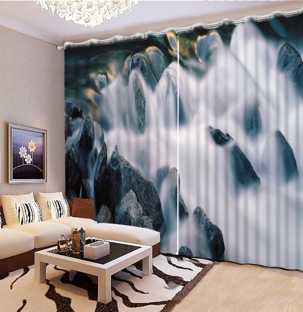 beautiful window curtains rock Clouds curtain styles for bedrooms 3d ...