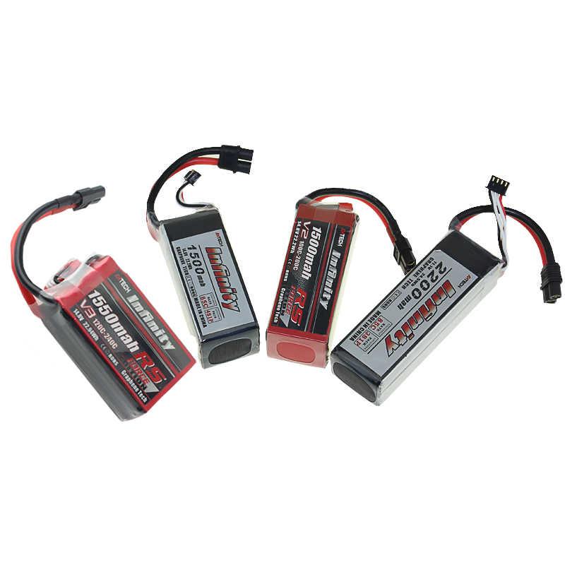 Infinity литий-полимерный Бэтти 1 S 2 3 S 4S 6 S 450 мАч 550 850 1150 1300 1500 мА/ч, 1550 2200 мА/ч, 85C RS V2 JST XT30 SY60 XT60 разъем для дрона с дистанционным управлением