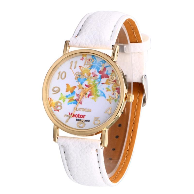 10 Colors Women Bracelet Watch Leather Band Analog Quartz Vogue Wrist Watches Ladies Faux Clock Women relojes mujer 2016