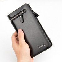 Business Men Wallet Artificial Leather Male Purse Brand Clutch Handy Bag Luxury Wallets Large Capacity Purse