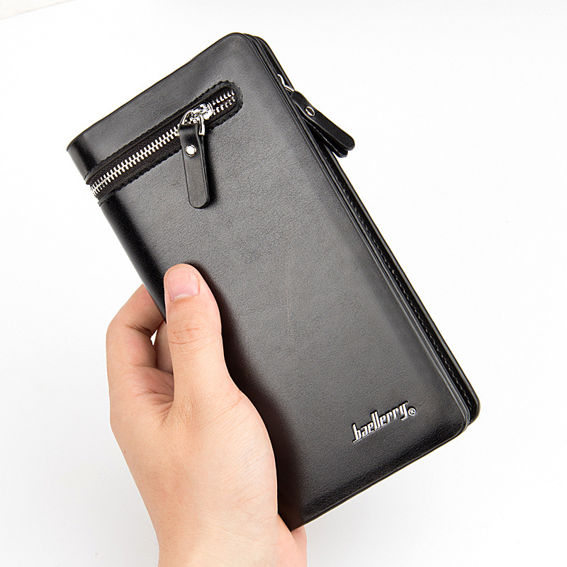 Brand Business Wallet men purse Long section coin pocket Male Clutch Handy portfolio Luxury Wallets phone bag Capacity purse genuine leather men business wallets coin purse phone clutch long organizer male wallet multifunction large capacity money bag