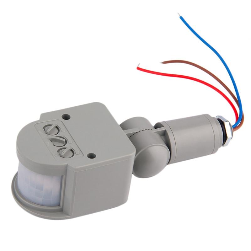 New Motion Sensor Light Switch AC 220V Automatic Infrared PIR Motion Sensor Switch For LED Light Household infrared pir motion sensor switch for led light strip automatic dc 5v 30v 10a h028