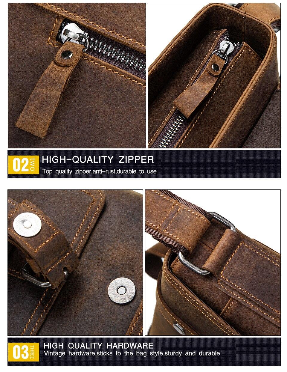 HTB1MAdAadfvK1RjSspfq6zzXFXaL 100% Genuine Leather Briefcase Men Vintage Real Crazy Horse Leather Messenger Shoulder Business Laptop Bag Case Office Handbag