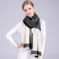 Women 100% Cashmere Scarf 2019 Luxury Winter Shawls and Wraps for Ladies Soft Neckerchief Pashmina Vintage Warm Scarves Cashmere