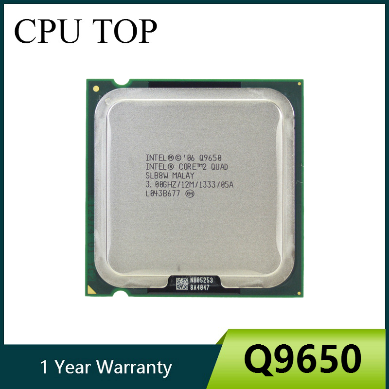 100% Working For Intel Core 2 Quad Q9650 SLB8W 3.0GHz 12MB 1333MHz Socket 775 Processor Cpu(China)