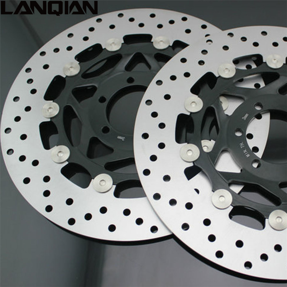 2PCS Motorcycle Front Floating Brake Disc Rotor For YAMAHA XJR400 1993 2005 YZF600R 1994 2005 FZR400 1988 1995 FZR 400 YZF 600R