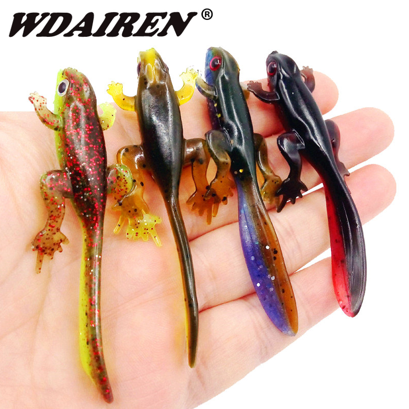 6pcs Jig Wobblers Silicone Soft Lure 80mm 3.5g Worms Fishing Lure Salt Smell Artificial Rubber Carp Bass Fishing Tackle Pesca