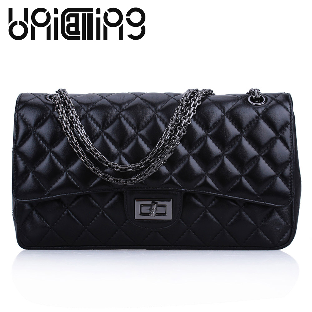 UniCalling New style Diamond lattice Sheep leather shoulder bags high-end All-match Chain women bag mini women messenger bag women shoulder bag cossbody handbag genuine first layer of cow leather 2017 korean diamond lattice chain women messenger bag
