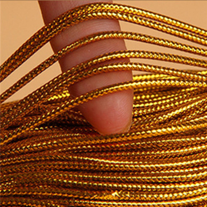 10PCS 10Meters Gold Packaging rope Cord Thread String Strap Ribbon Rope Tag Line Bracelet No-slip Clothing Gift box Decor