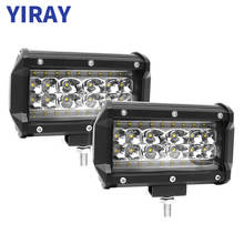 YIRAY 2PCS 5inch 168W LED Work Light Bar Flood 5 Quad-Row Pods Off road 12v for Jeep SUV ATV UTV Truck Boat