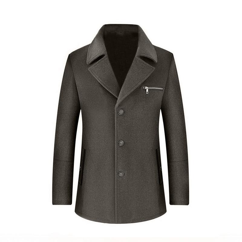 Winter high quality woolen jacket Men's fashion Business thicken trench coat Men's casual coat Classic men overcoat 6 colours - 4