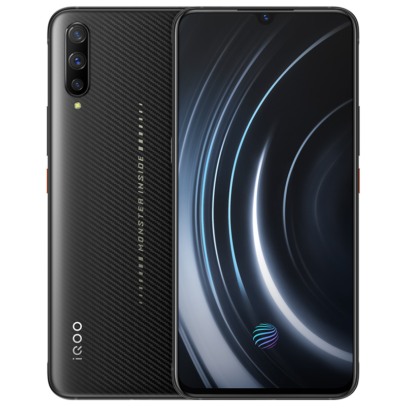 Moster Version vivo iQOO Mobile Phone Snapdragon 855 NFC Type C 4000mAh 44W Fast Charging Cool 4D Game 12G 256G Smartphone