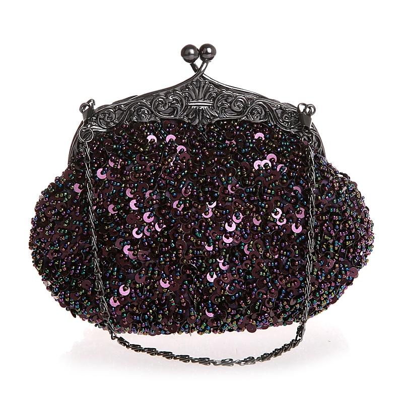 f574e10b2e High Quality Hot Pink Ladies Beaded Sequined Wedding Evening Bag ...