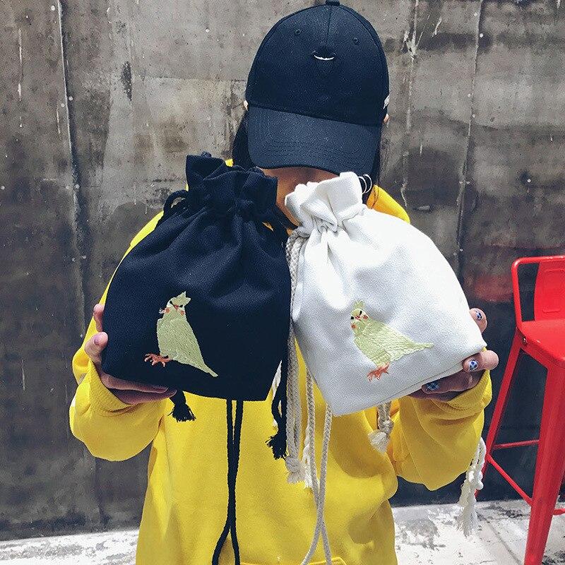 Bentoy École Coréenne Fille de Causalité Cordon Épaule Sac Mode Voyage Shopping Sac Perroquet Motif Sac