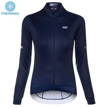 Командная Velo pro гоночная одежда 2019 зимняя женская велосипедная Джерси с флисом с длинным рукавом велосипедная одежда Maglia invernale в ворсе