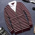 YP1037M 2017 autumn winter Hot sale fashion causal warm christmas sweater men Fake two pieces set Cheap wholesale brand clothing