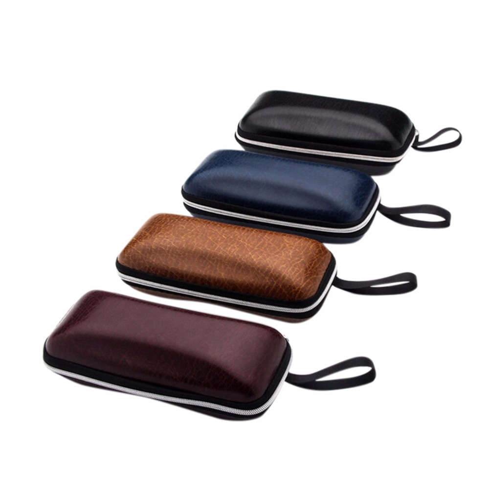 4 Colors Sunglasses Case Glasses Box With Lanyard Zipper Eyeglass Cases Colorful Cover