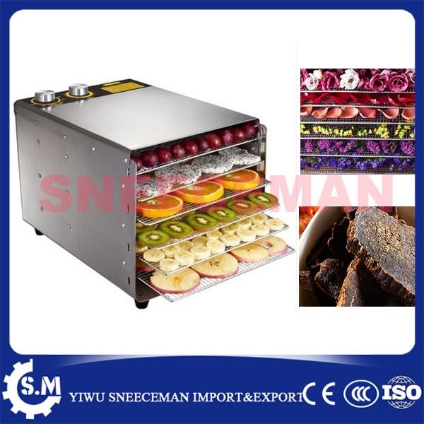 6layer fruit dryer Stainless Steel Fruit Dehydrator Machine Fruit Vegetable Meat Herbal Tea Fish Dryer Food Processor wavelets processor